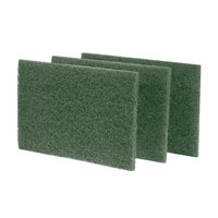 """Scrubble by ACS S86 9"""" x 6"""" Heavy-Duty Green Scouring Pad - 10/Pack"""
