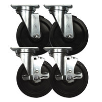 Continental Refrigerator 50209 3 inch Swivel Plate Casters with Brake