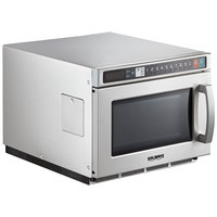 Solwave Space Saver Stainless Steel Heavy-Duty Commercial Microwave with USB Port - 208/240V, 1800W