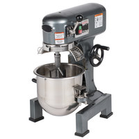 Avantco MX10WFB 10 Qt. Gear-Driven Commercial Planetary Stand Mixer with Guard and Flexible Silicone Blade Beater - 110V, 3/4 hp