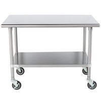 High Quality Advance Tabco MSLAG 304C 30 Inch X 48 Inch 16 Gauge Stainless Steel Work  Table ...