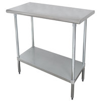 Advance Tabco SLAG-182 18 inch x 24 inch 16 Gauge Stainless Steel Work Table with Stainless Steel Undershelf