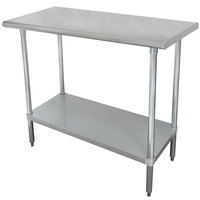Advance Tabco SLAG-180 18 inch x 30 inch 16 Gauge Stainless Steel Work Table with Stainless Steel Undershelf