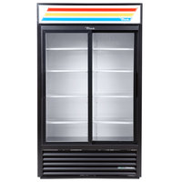True GDM-45-HC-LD 51 inch Black Refrigerated Sliding Glass Door Merchandiser with LED Lighting