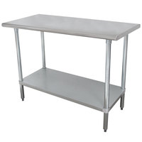 Advance Tabco SLAG-184 18 inch x 48 inch 16 Gauge Stainless Steel Work Table with Stainless Steel Undershelf