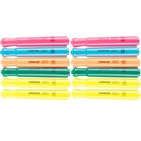 Universal UNV08867 Chisel Tip Desk Style Highlighter, Fluorescent Color Assortment