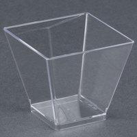 WNA Comet APTSQSHOT2 Petites 1.75 oz. Square Plastic Tasting Glass - 320/Case