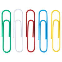 Universal UNV95000 Assorted Color Jumbo Vinyl-Coated Paper Clip - 250/Box