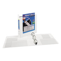 Avery 1319 White Heavy-Duty View Binder with 1 1/2 inch Locking One Touch EZD Rings and Extra-Wide Covers