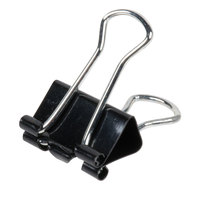 Universal UNV11140 3/8 inch Capacity Black Small Binder Clip - 40/Box