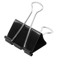 Universal UNV11112 1 inch Capacity Black Large Binder Clip   - 12/Pack