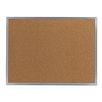 Universal UNV43612 18 inch x 24 inch Natural Cork Board with Aluminum Frame