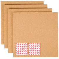 Universal UNV43404 12 inch Square Brown Cork Tile Panel - 4/Pack