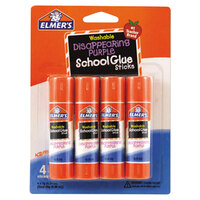 Elmer's EPIE543 0.24 oz. Disappearing Purple School Glue Stick - 4/Pack