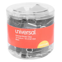 Universal UNV11160 Black Small and Medium Binder Clips