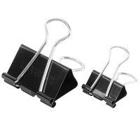 Universal UNV11160 Black Small and Medium Binder Clips - 60/Box