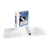 Avery 1320 White Heavy-Duty View Binder with 2 inch Locking One Touch EZD Rings and Extra-Wide Covers