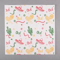 Choice 12 inch x 12 inch Mexican Print Deli Sandwich Wrap Paper - 5000/Case