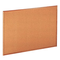 Universal UNV43604 36 inch x 48 inch Natural Cork Board with Oak Frame