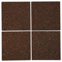 Universal UNV43403 12 inch Square Dark Brown Cork Tile Panel - 4/Pack