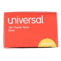 Universal UNV51002 5/16 inch Silver Steel Thumb Tack - 100/Box