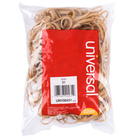 Universal UNV00431 2 1/2 inch x 1/8 inch Beige #31 Rubber Band, 1/4 lb. - 245/Bag