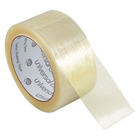 Universal One UNV99000 2 inch x 55 Yards Clear Heavy-Duty Box Sealing Tape - 36/Pack