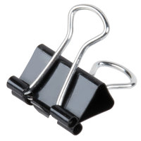 Universal UNV10199 1/4 inch Capacity Black Mini Binder Clip - 12/Box