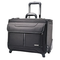Samsonite 458311041 Beacon Hill 17 1/4 inch x 13 inch x 7 1/2 inch Black Top Loader Rolling Laptop Case / Business Case
