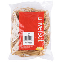 Universal UNV00433 3 1/2 inch x 1/8 inch Beige #33 Rubber Band, 1/4 lb. - 160/Bag