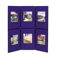 Quartet SB93516Q Show-It! 72 inch x 72 inch Blue and Gray Double Sided 3 Panel Display Board