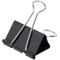 Universal UNV10220 1 inch Capacity Black Large Binder Clip - 12/Case