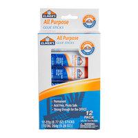 Elmer's E517 0.77 oz. All-Purpose Glue Stick - 12/Pack