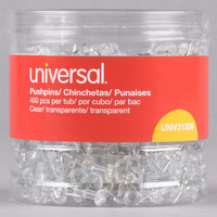 Universal UNV31306 3/8 inch Clear Plastic Push Pin - 400/Pack