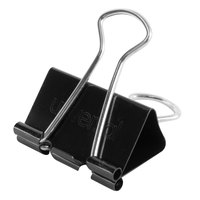 Universal UNV11124 5/8 inch Capacity Black Medium Binder Clip - 24/Pack
