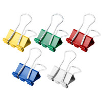 Universal UNV31028 3/8 inch Capacity Assorted Color Small Binder Clips - 40/Box