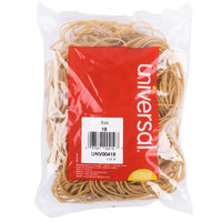 Universal UNV00419 3 1/2 inch x 1/16 inch Beige #19 Rubber Band, 1/4 lb. - 310/Bag