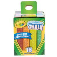 Crayola 512016 Assorted Colors Washable Sidewalk Chalk - 16/Box
