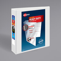 Avery 5504 White Heavy-Duty Non-Stick View Binder with 2 inch Slant Rings