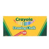 Crayola 510400 24 Assorted Colors Drawing Chalk - 144/Set