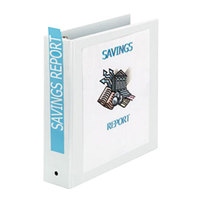 Avery 05731 White Economy View Binder with 2 inch Round Rings