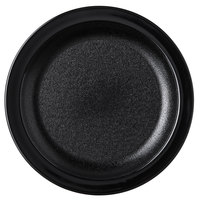 Carlisle PCD20603 Black 6 1/2 inch Polycarbonate Narrow Rim Plate - 48/Case