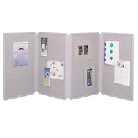 Quartet 773630 72 inch x 30 inch Gray Double Sided 4 Panel Display Board