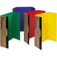 Pacon 37654 Spotlight 24 inch x 36 inch Assorted Color Tri-Fold Corrugated Presentation Display Boards - 4/Pack