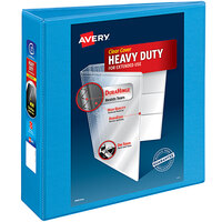 Avery 5601 Light Blue Heavy-Duty Non-Stick View Binder with 3 inch Slant Rings