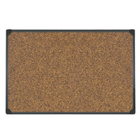 Universal UNV43021 18 inch x 24 inch Cork Board with Black Frame