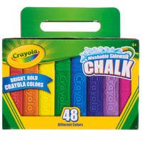 Crayola 512048 48 Assorted Bright Colors Washable Sidewalk Chalk - 48/Box