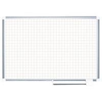 MasterVision MA0547830 48 inch x 36 inch White Grid Dry Erase Planning Board - 1 inch x 1 inch Grid