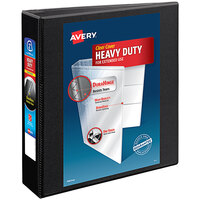 Avery 5500 Black Heavy-Duty Non-Stick View Binder with 2 inch Slant Rings