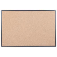 Universal UNV43022 24 inch x 36 inch Cork Board with Black Frame